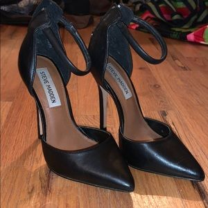 Pointed strap heels